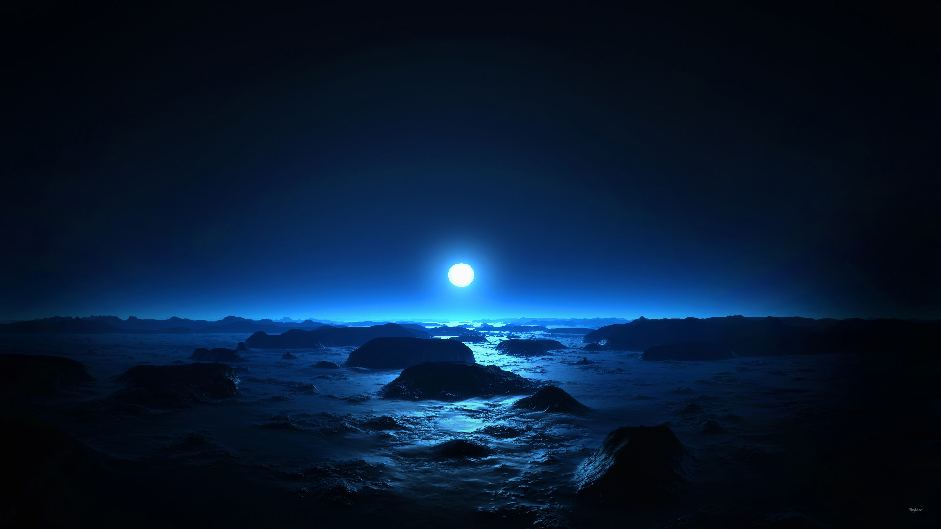 Moonlight glows and all remain