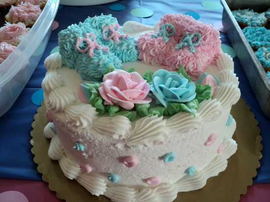 We had the cake made at Kroger grocery store - they actually did a nice job! I thought it was pretty cute.