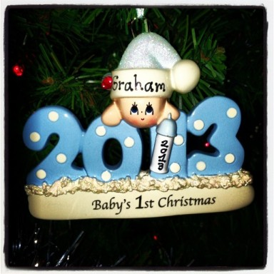 Graham's first ornament!